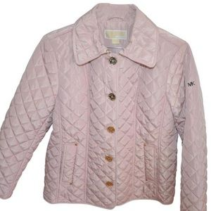 Michael Kors pink quilted jacket New L